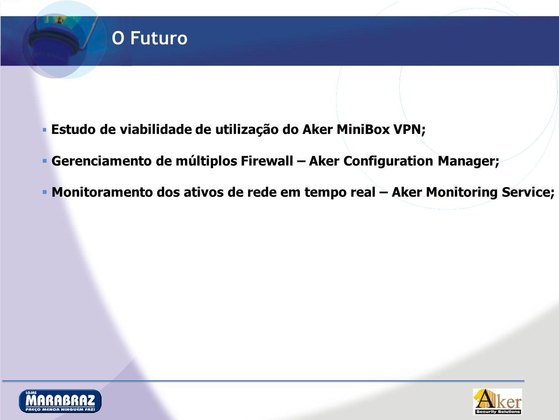O Futuro Estudo de viabilidade de utilização do Aker MiniBox VPN; Gerenciamento de múltiplos Firewall – Aker Configuration Manager;