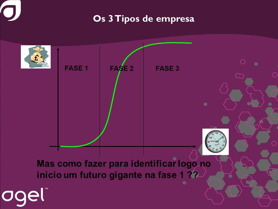 Os 3 Tipos de empresa FASE 1. FASE 2. FASE 3.