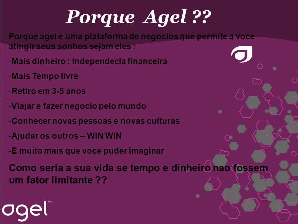 Porque Agel Porque agel e uma plataforma de negocios que permite a voce atingir seus sonhos sejam eles :