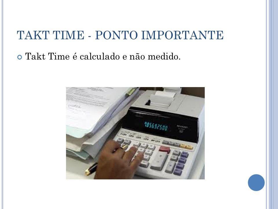 TAKT TIME - PONTO IMPORTANTE