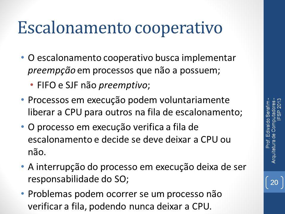 Escalonamento cooperativo