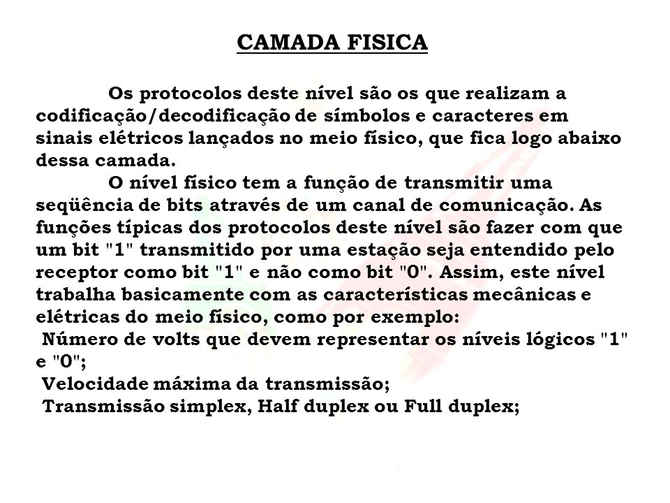 CAMADA FISICA