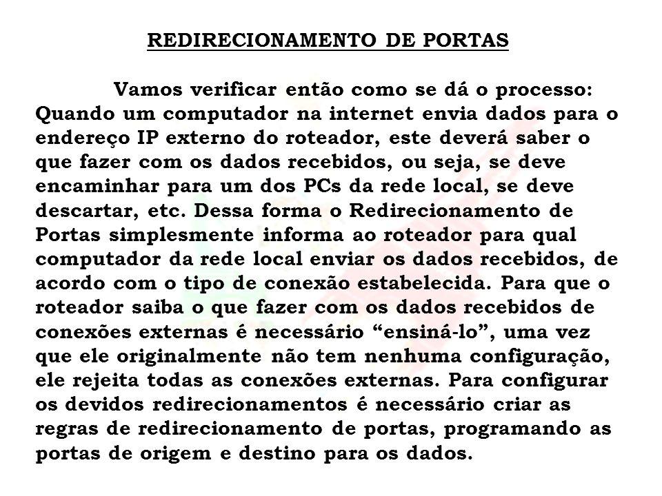 REDIRECIONAMENTO DE PORTAS