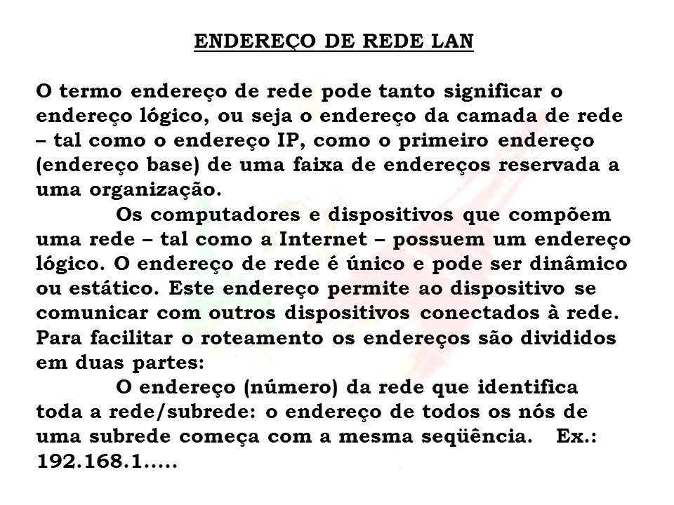 ENDEREÇO DE REDE LAN