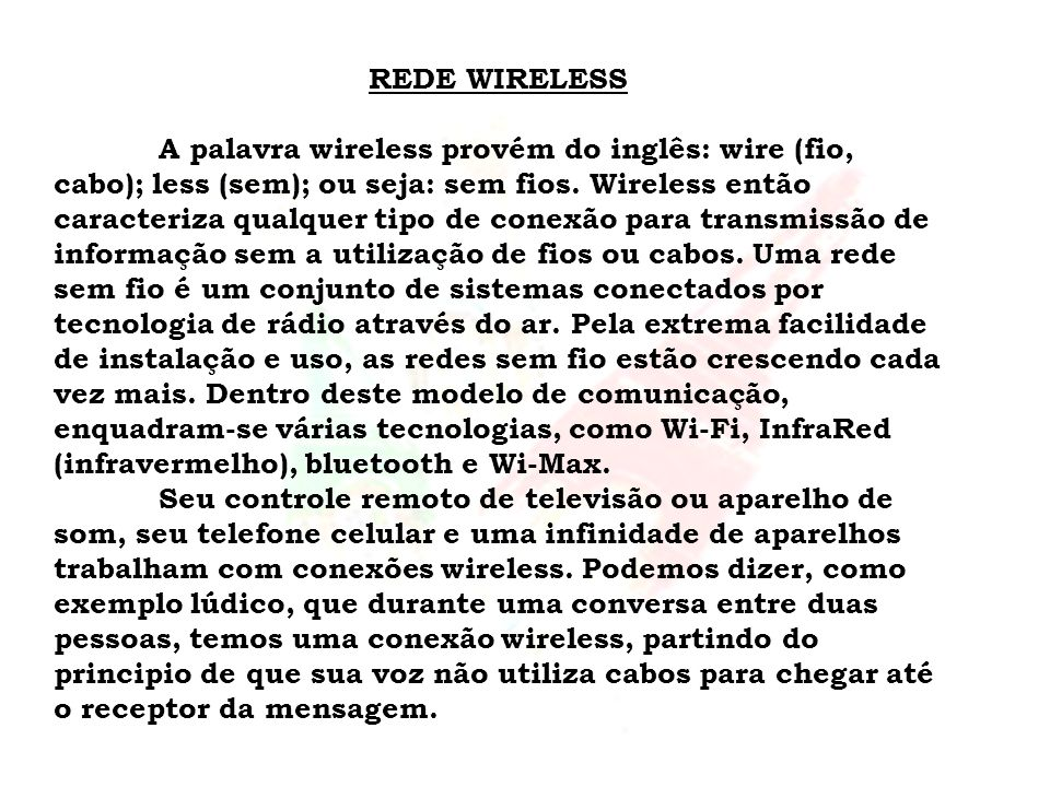 REDE WIRELESS