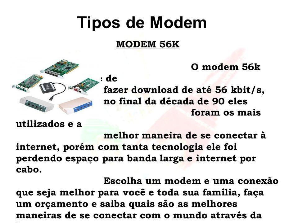 Tipos de Modem MODEM 56K.