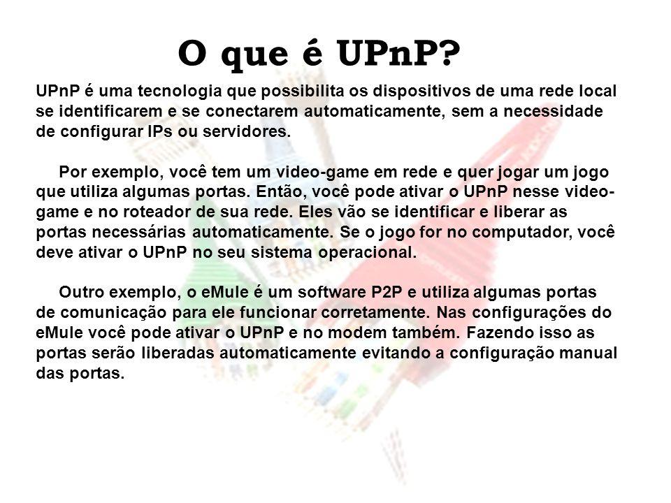 O que é UPnP