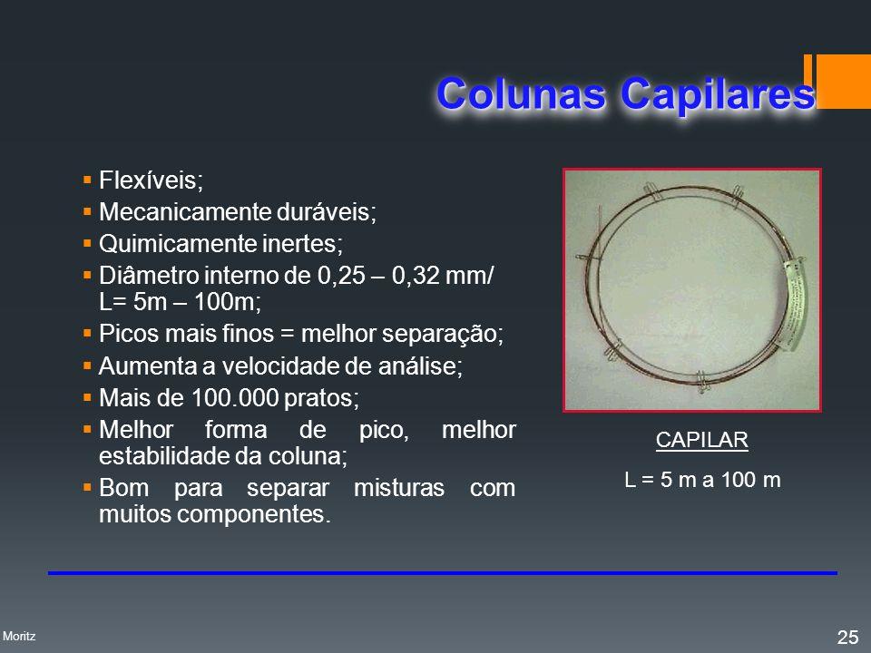 Colunas Capilares Flexíveis; Mecanicamente duráveis;