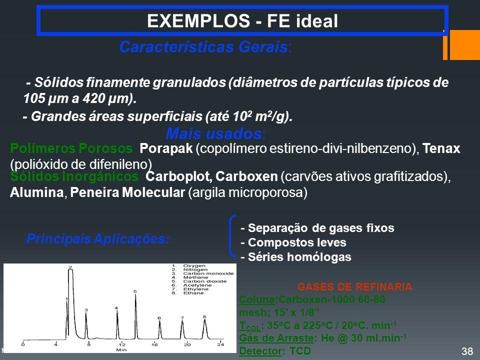 EXEMPLOS - FE ideal Características Gerais: Mais usados: