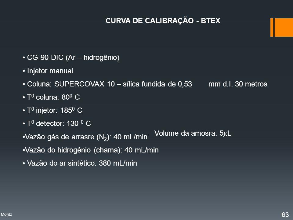 CURVA DE CALIBRAÇÃO - BTEX