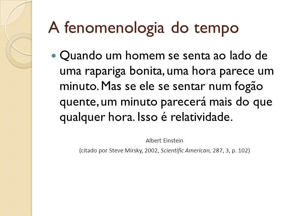 A fenomenologia do tempo