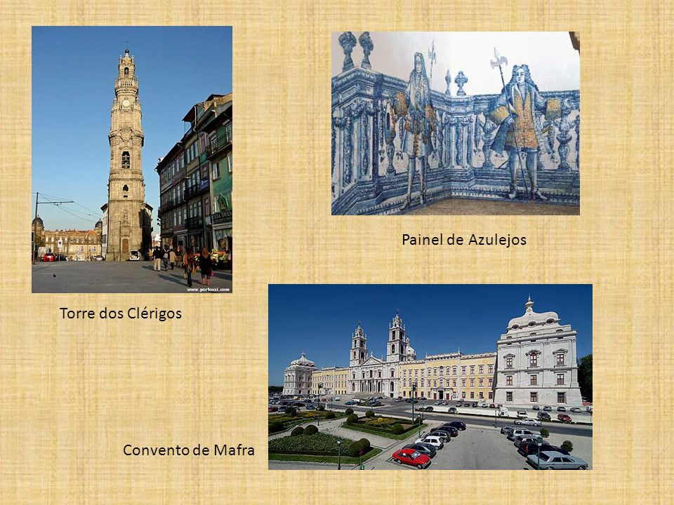 Painel de Azulejos Torre dos Clérigos Convento de Mafra