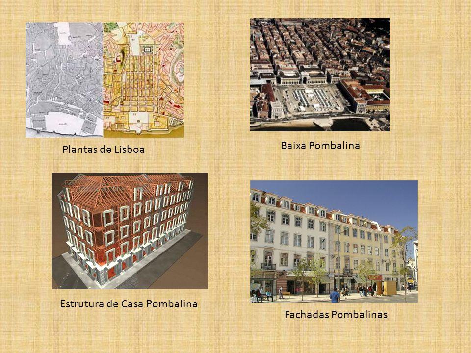 Baixa Pombalina Plantas de Lisboa Estrutura de Casa Pombalina Fachadas Pombalinas
