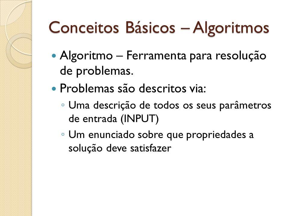 Conceitos Básicos – Algoritmos