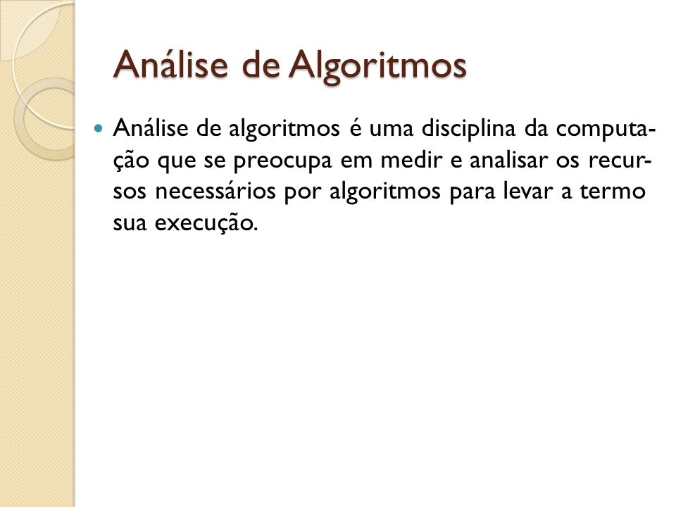 Análise de Algoritmos