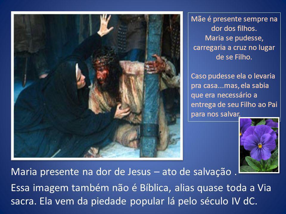 Maria presente na dor de Jesus – ato de salvação .