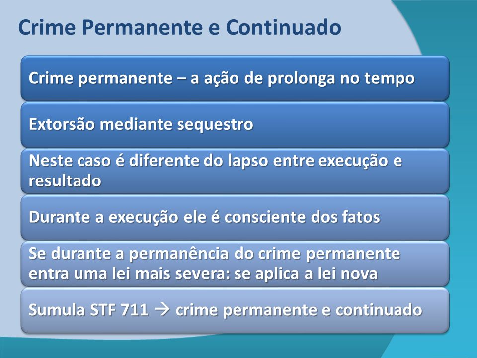 Crime Permanente e Continuado