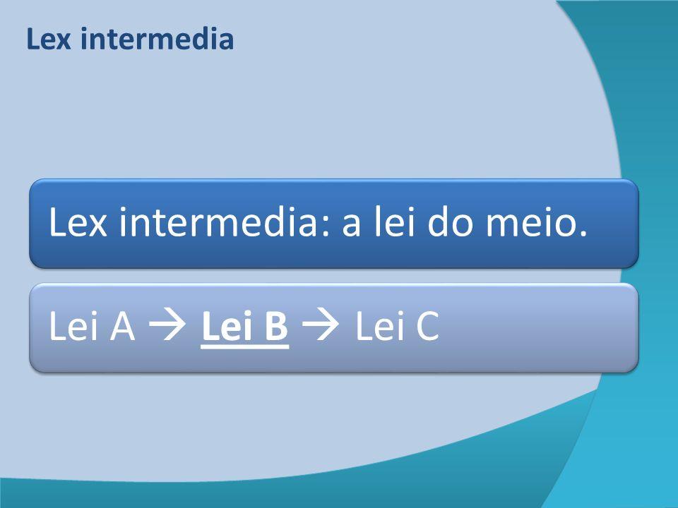 Lex intermedia: a lei do meio.