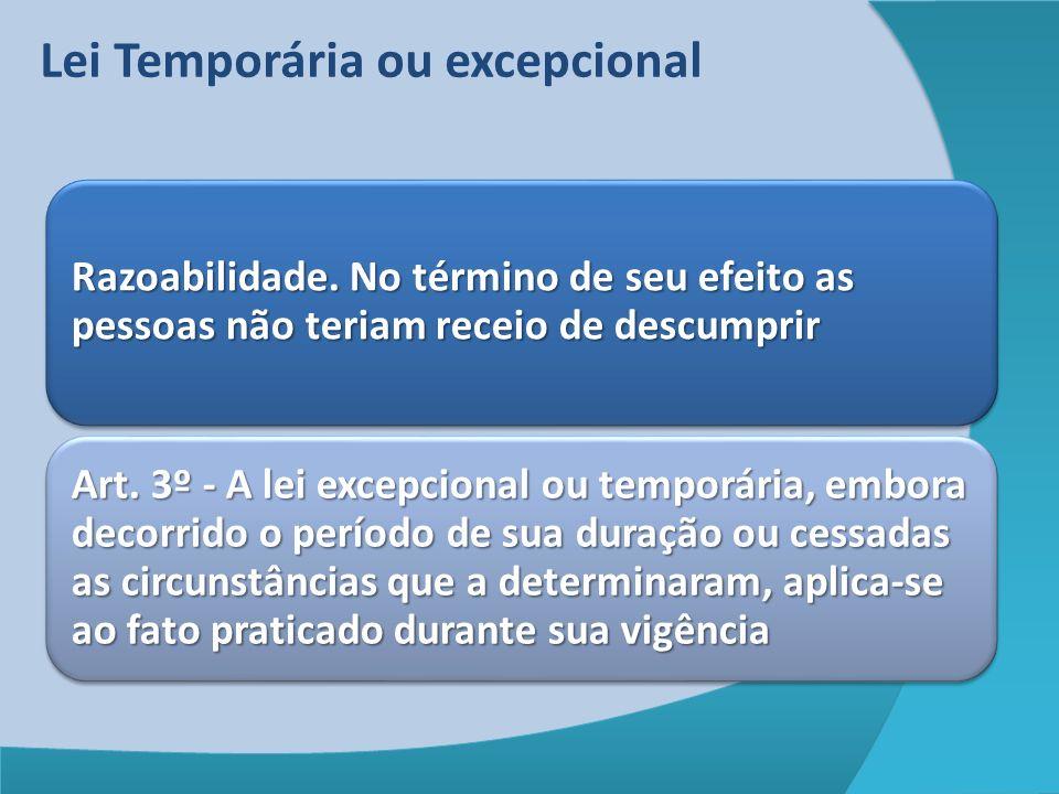 Lei Temporária ou excepcional
