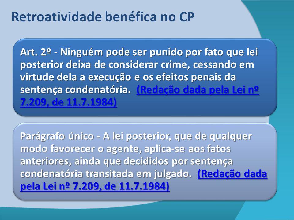 Retroatividade benéfica no CP