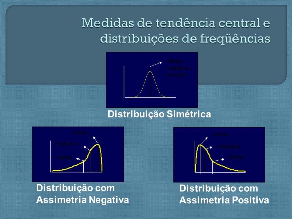 Medidas de tendência central e distribuições de freqüências