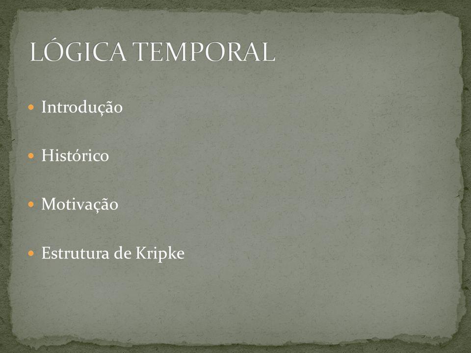 LÓGICA TEMPORAL Introdução Histórico Motivação Estrutura de Kripke