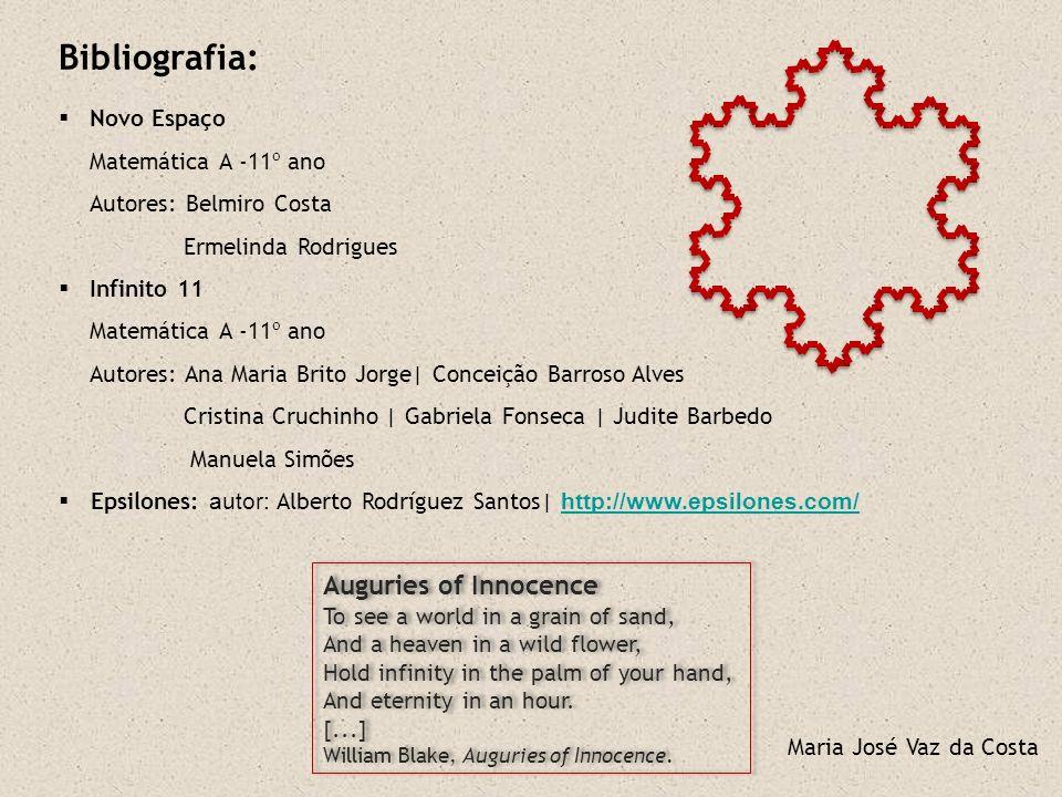 Bibliografia: Auguries of Innocence Novo Espaço Matemática A -11º ano