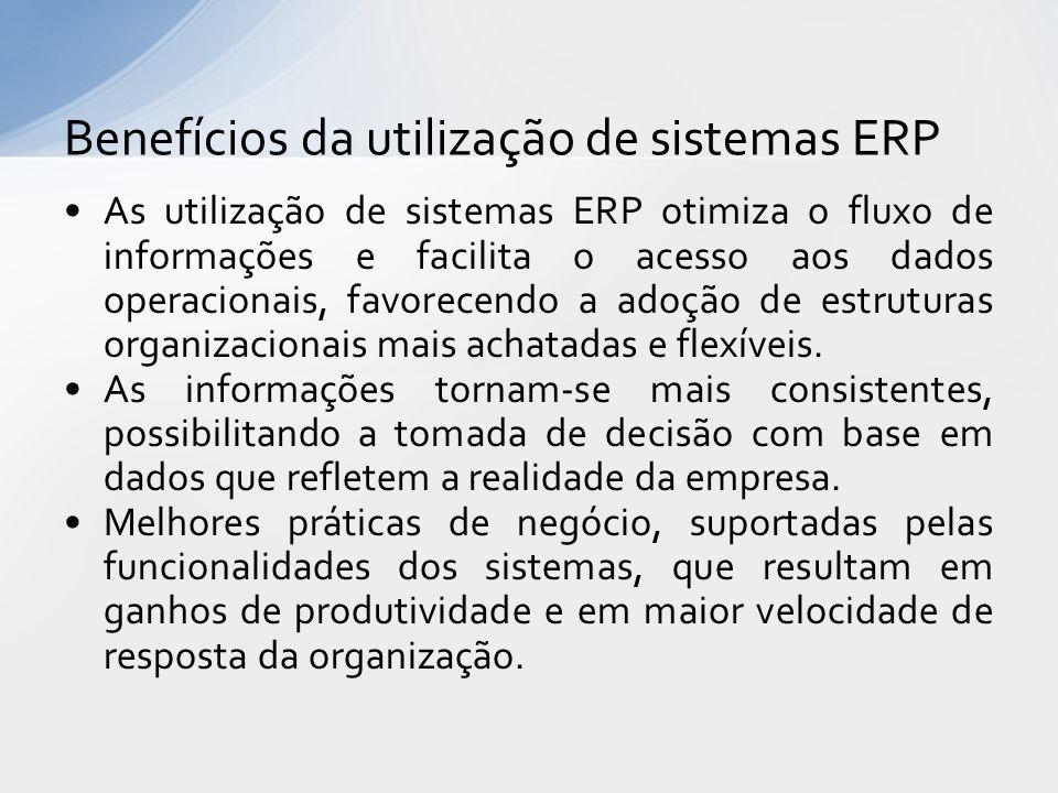 Benefícios da utilização de sistemas ERP