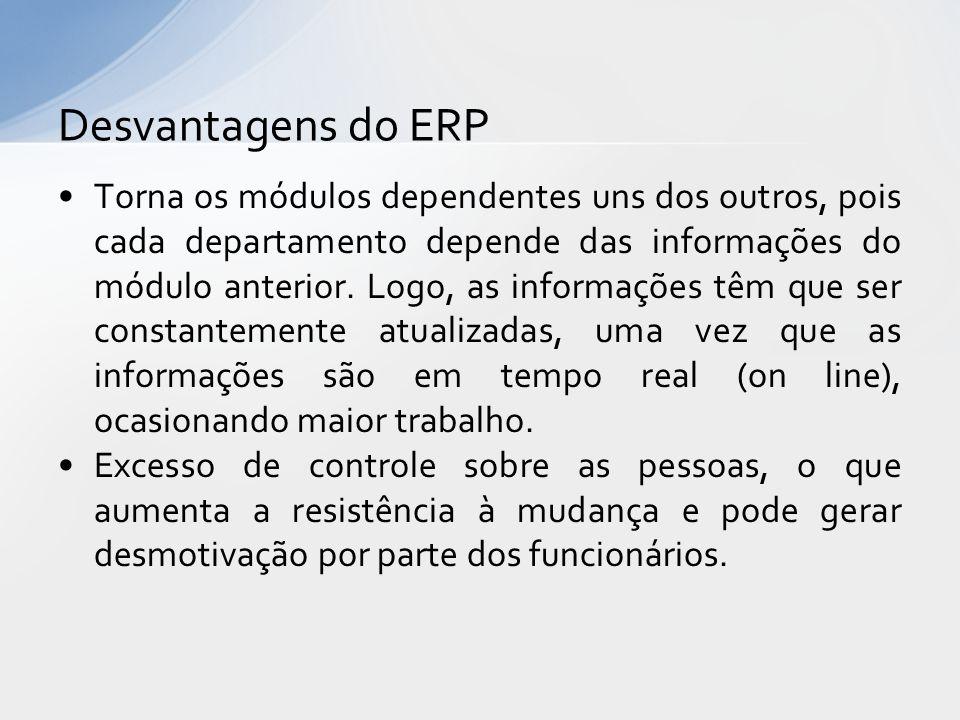 Desvantagens do ERP