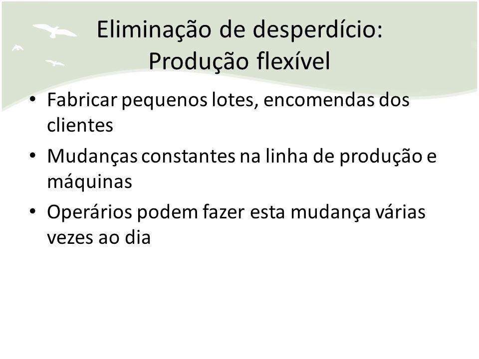Eliminação de desperdício: Produção flexível