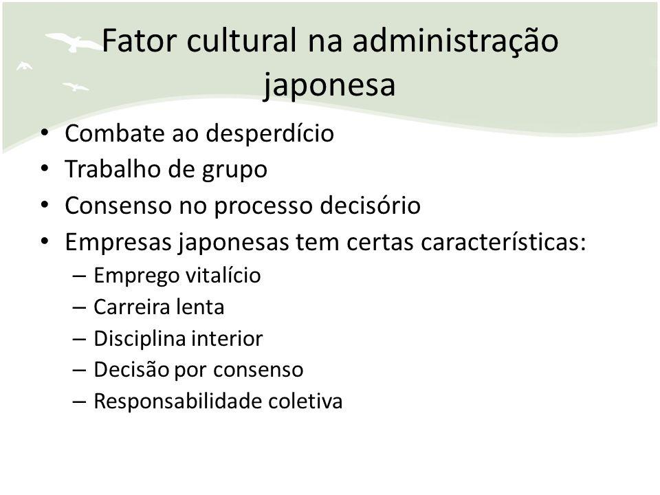 Fator cultural na administração japonesa