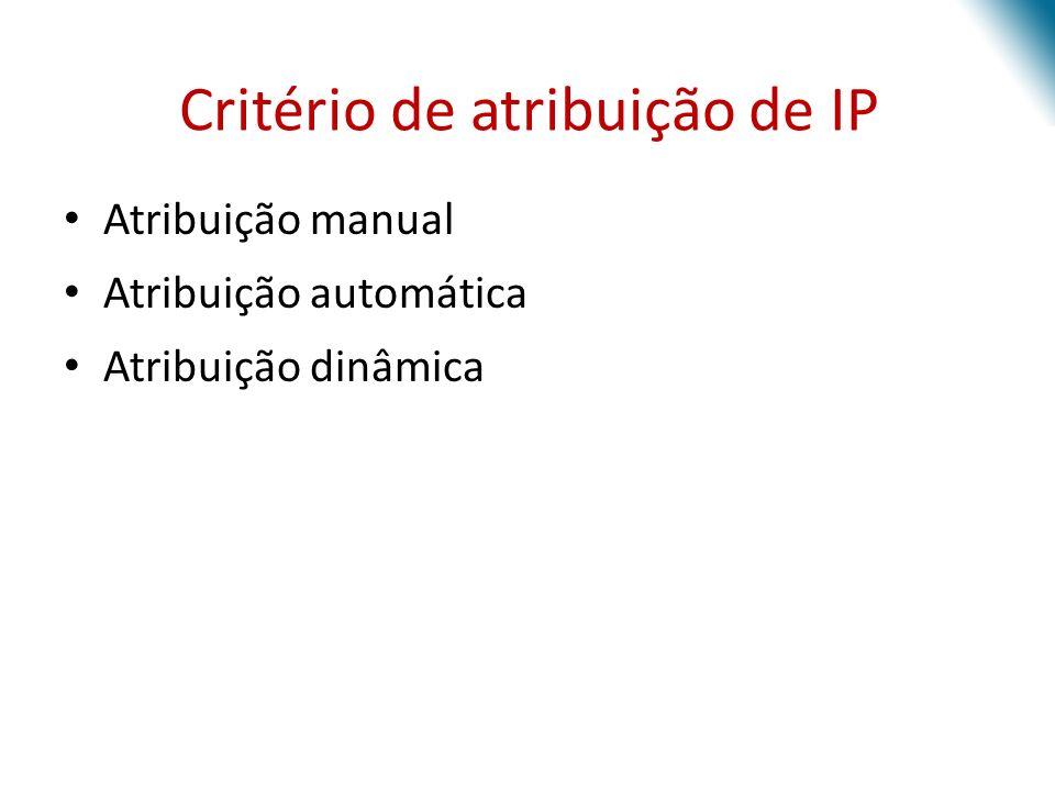 Critério de atribuição de IP