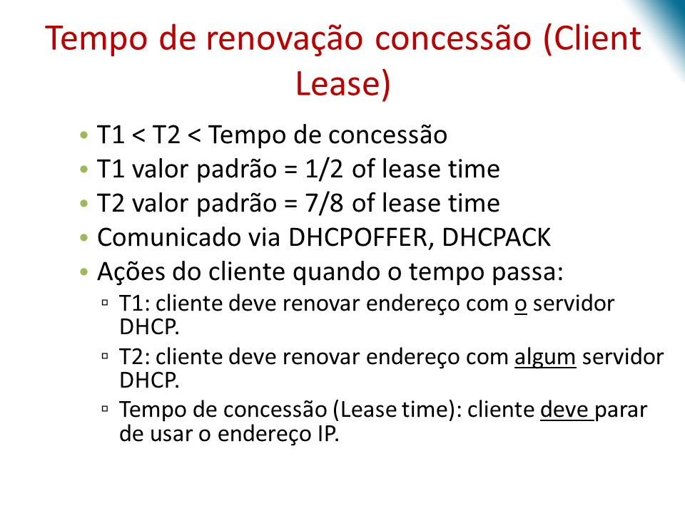 Tempo de renovação concessão (Client Lease)