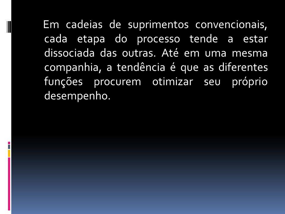 Em cadeias de suprimentos convencionais, cada etapa do processo tende a estar dissociada das outras.