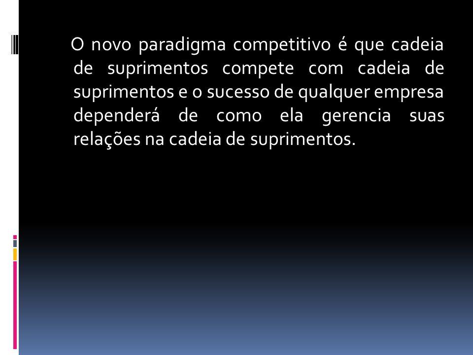 O novo paradigma competitivo é que cadeia de suprimentos compete com cadeia de suprimentos e o sucesso de qualquer empresa dependerá de como ela gerencia suas relações na cadeia de suprimentos.