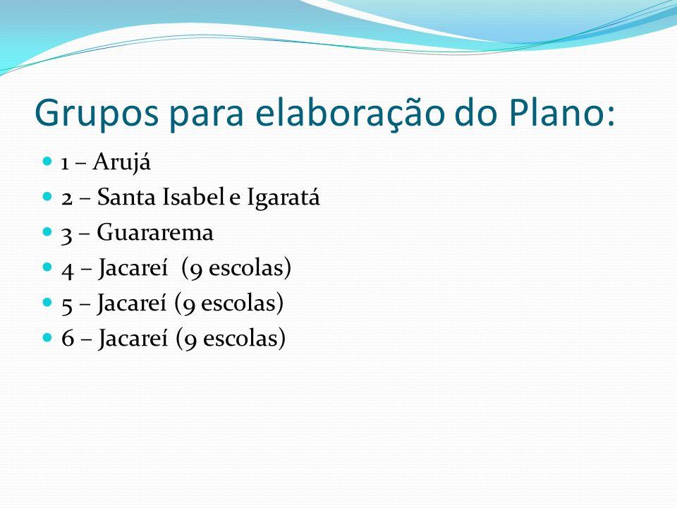 Grupos para elaboração do Plano:
