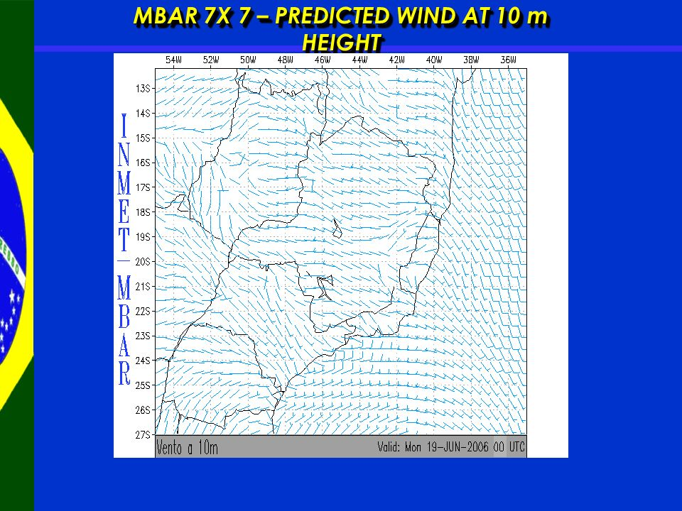 MBAR 7X 7 – PREDICTED WIND AT 10 m HEIGHT