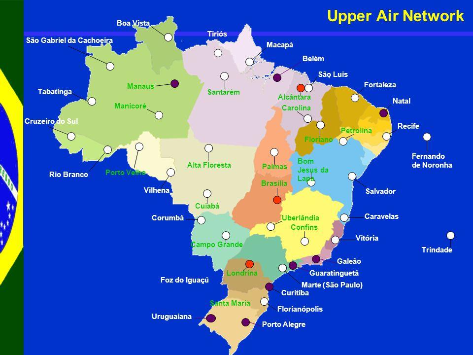Upper Air Network Boa Vista Tiriós São Gabriel da Cachoeira Macapá