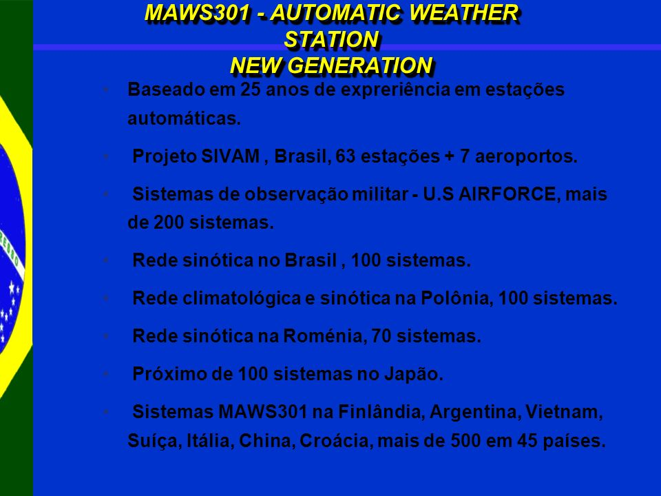 MAWS301 - AUTOMATIC WEATHER STATION NEW GENERATION