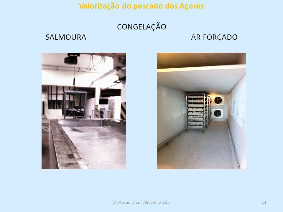 Valorização do pescado dos Açores CONGELAÇÃO SALMOURA AR FORÇADO