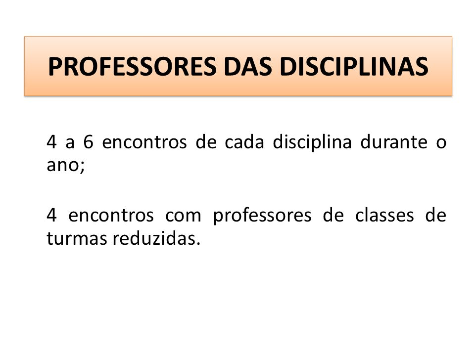 PROFESSORES DAS DISCIPLINAS