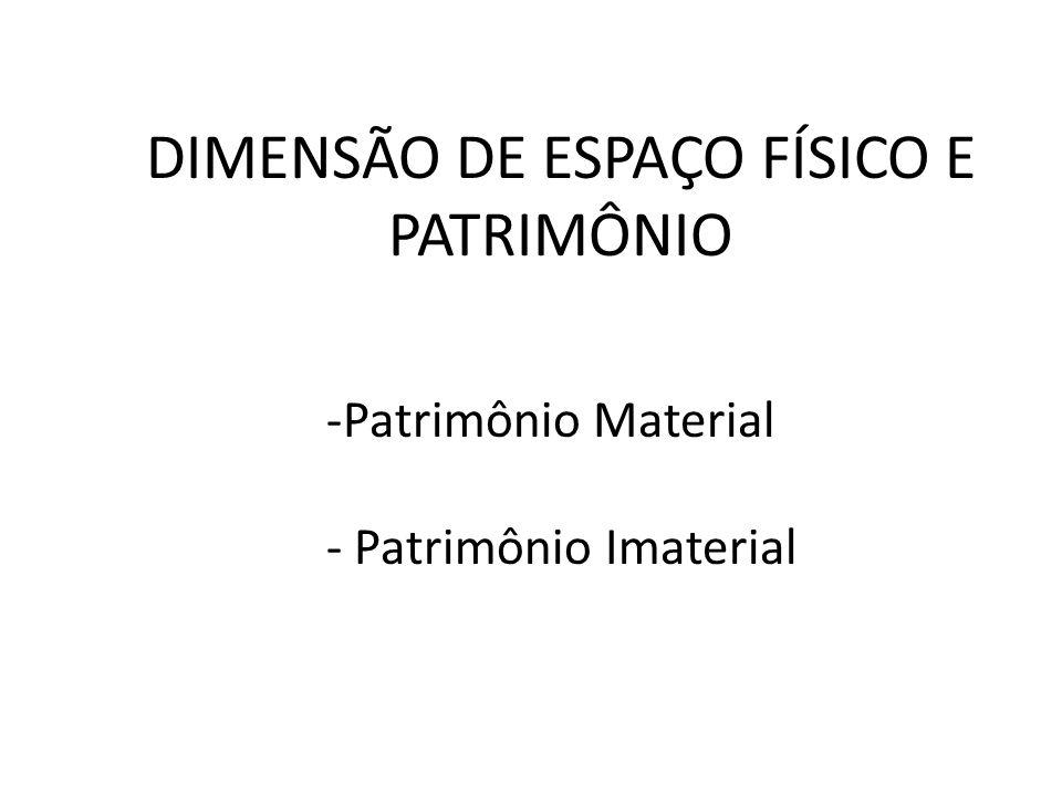 DIMENSÃO DE ESPAÇO FÍSICO E PATRIMÔNIO