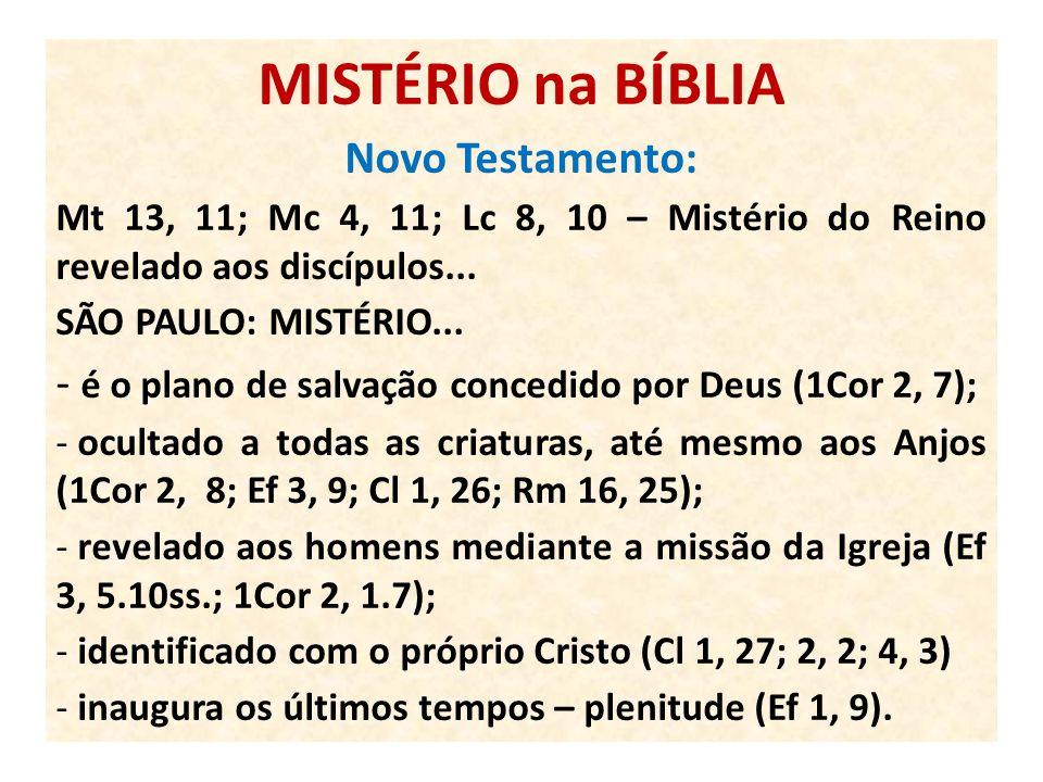 MISTÉRIO na BÍBLIA Novo Testamento: