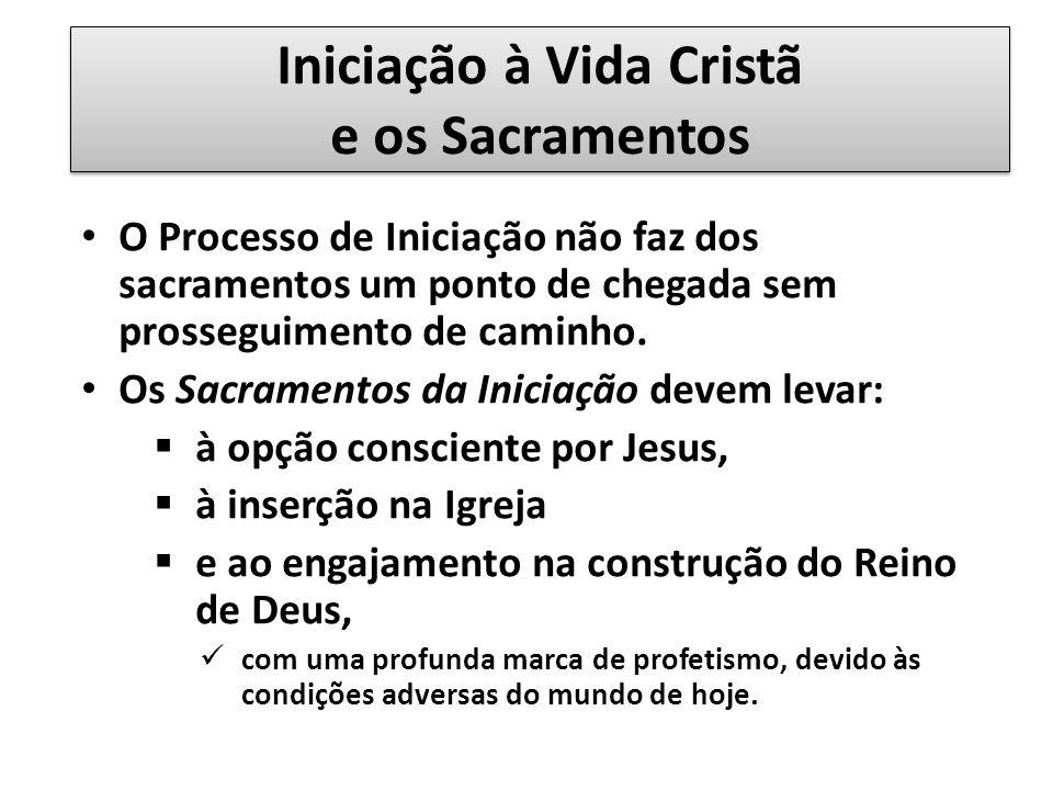 Iniciação à Vida Cristã e os Sacramentos