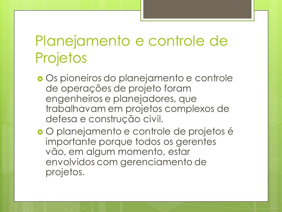 Planejamento e controle de Projetos