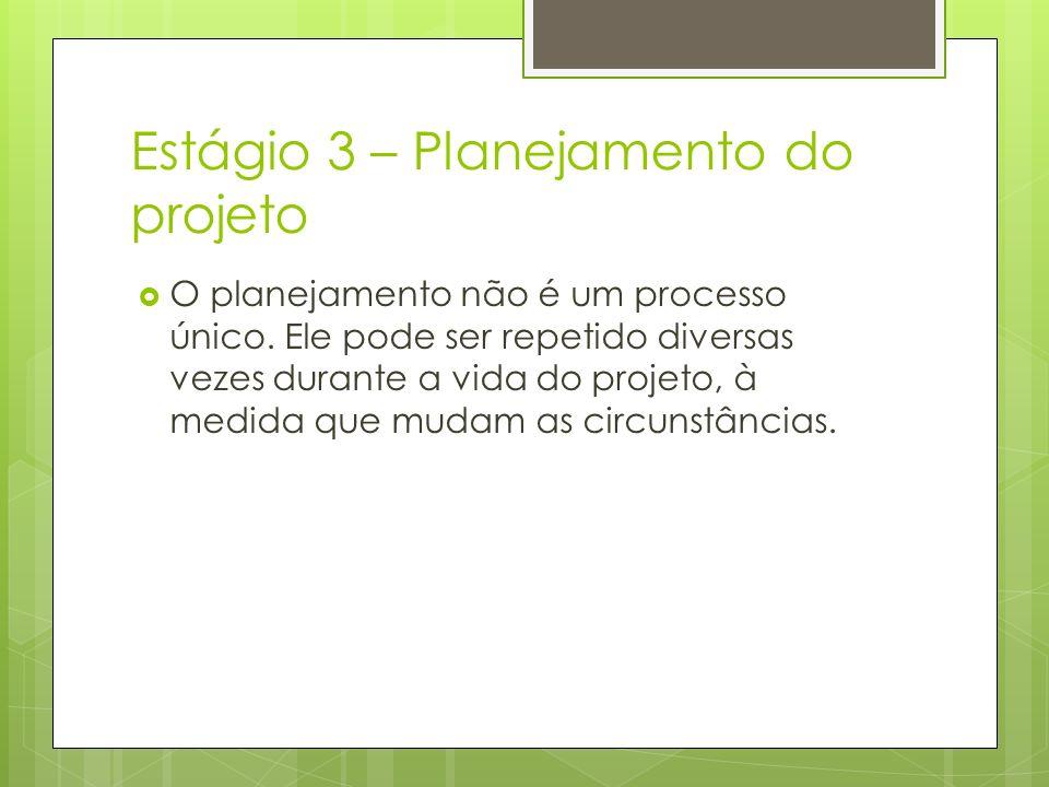 Estágio 3 – Planejamento do projeto