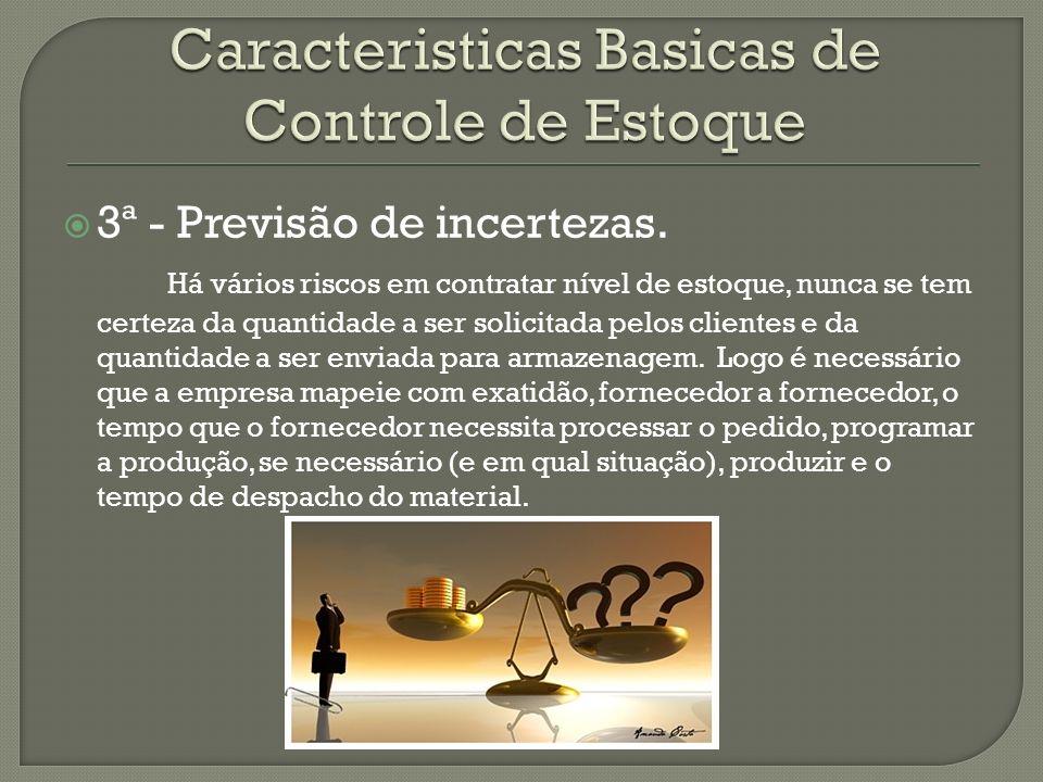 Caracteristicas Basicas de Controle de Estoque
