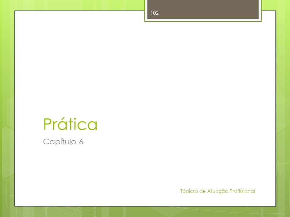 Prática Capítulo 6 Tópicos de Atuação Profissional