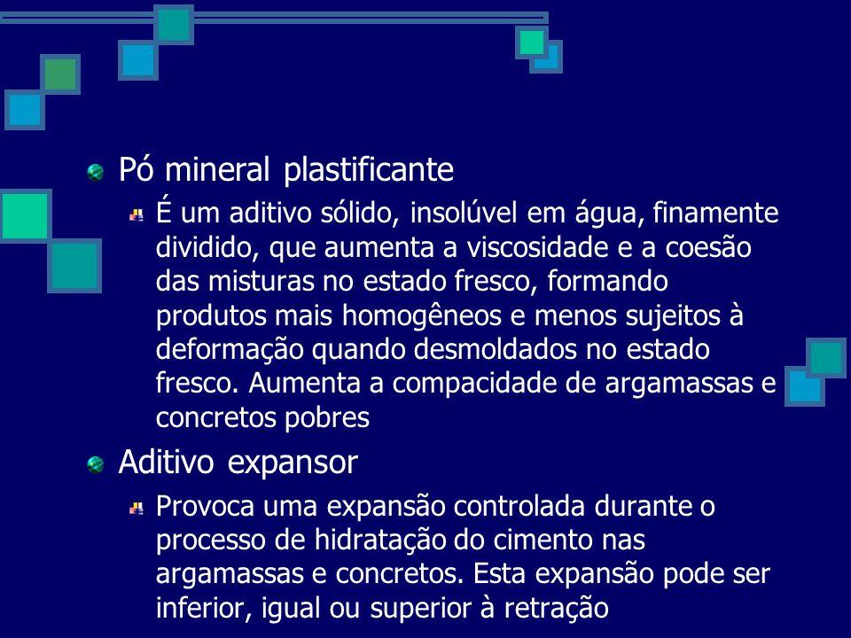 Pó mineral plastificante