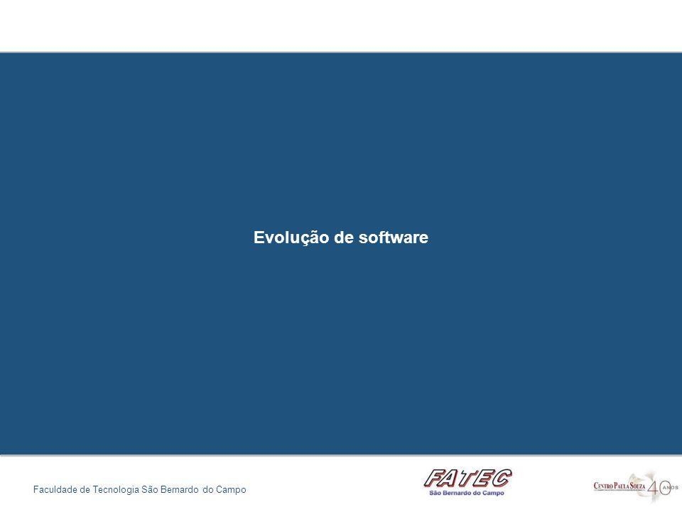 Evolução de software Faculdade de Tecnologia São Bernardo do Campo